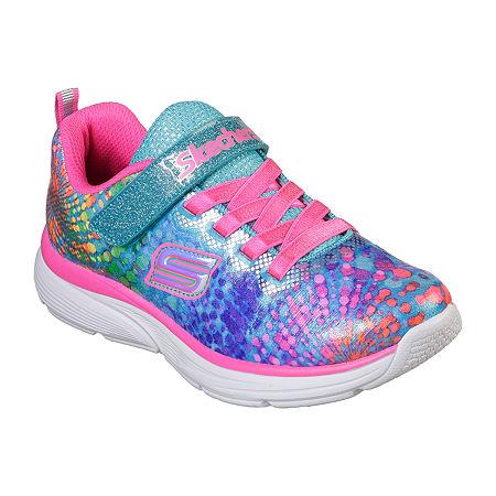 Skechers Wavy Lights Pull-on Sneakers - Little Kids Girls, 13 Medium, Multiple Colors