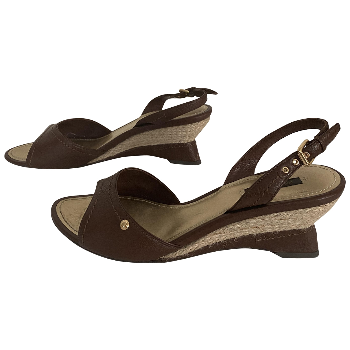 Louis Vuitton \N Brown Leather Sandals for Women 40 IT