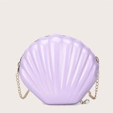 Girls Shell Shaped Chain Crossbody Bag