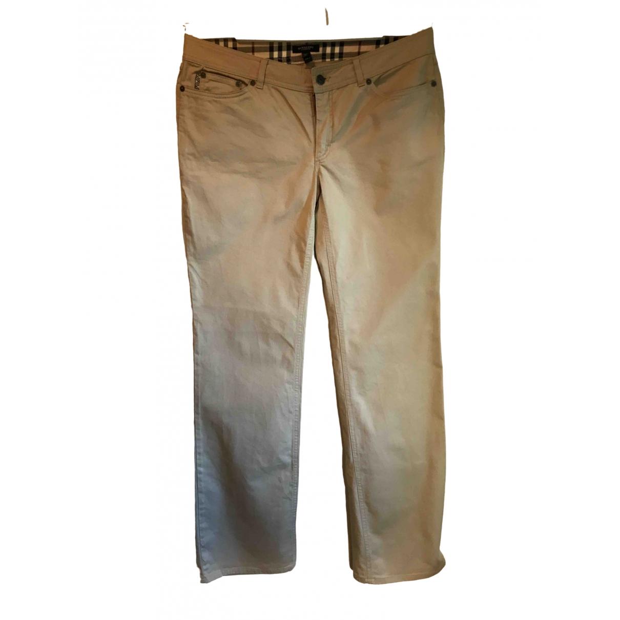 Burberry - Pantalon   pour femme en coton - beige
