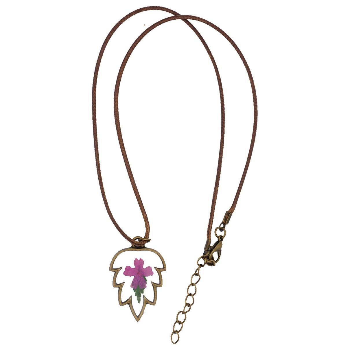 Non Signé / Unsigned Motifs Floraux Multicolour Metal necklace for Women N