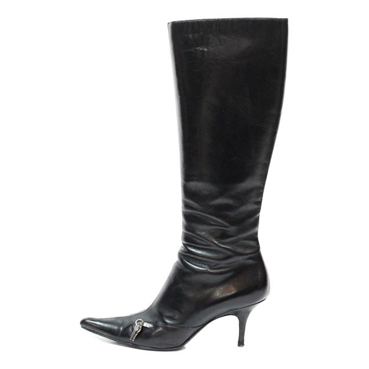 Dior N Black Leather Boots for Women 40.5 EU