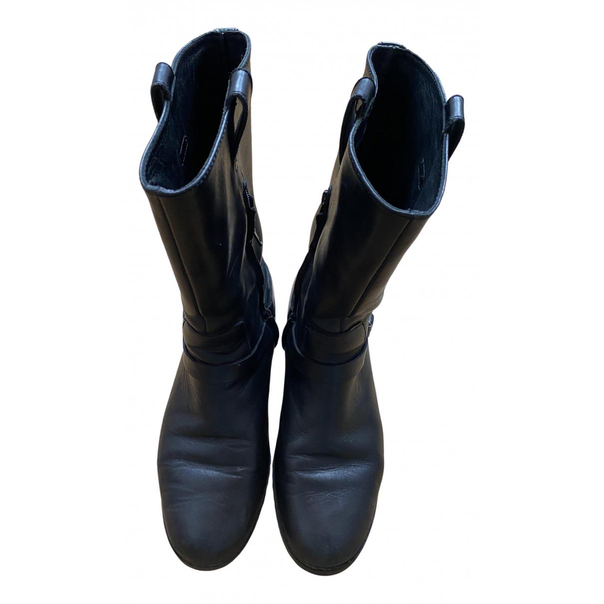 Lauren Ralph Lauren \N Black Leather Boots for Women 38 EU