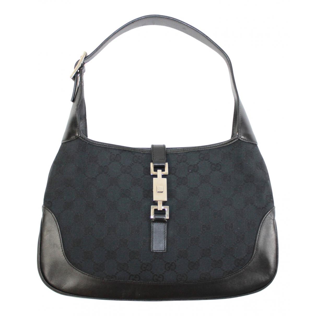 Gucci - Sac a main Jackie Vintage  pour femme en toile - noir