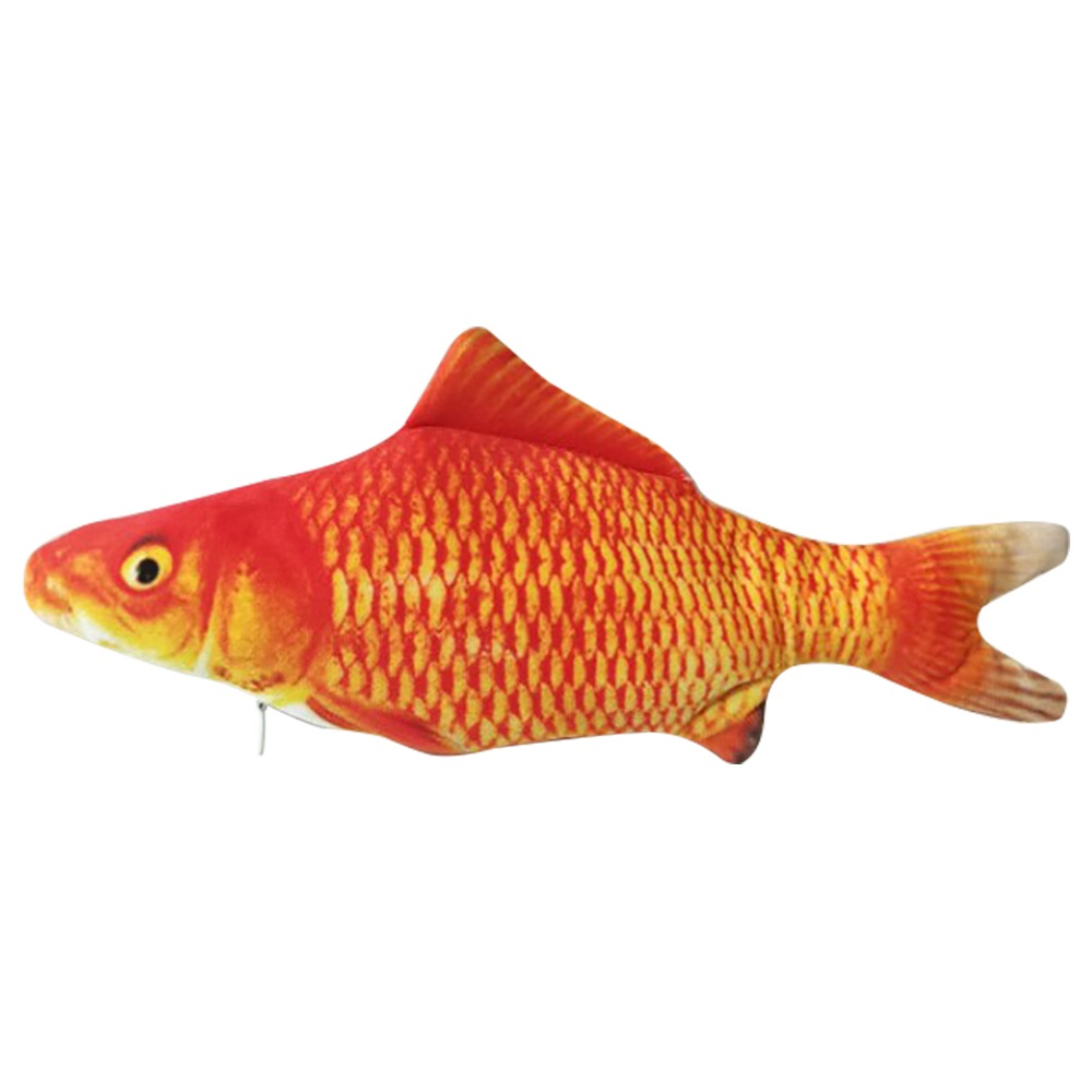 Electric Simulation Fish Cat Toy USB Charging - Red Carp