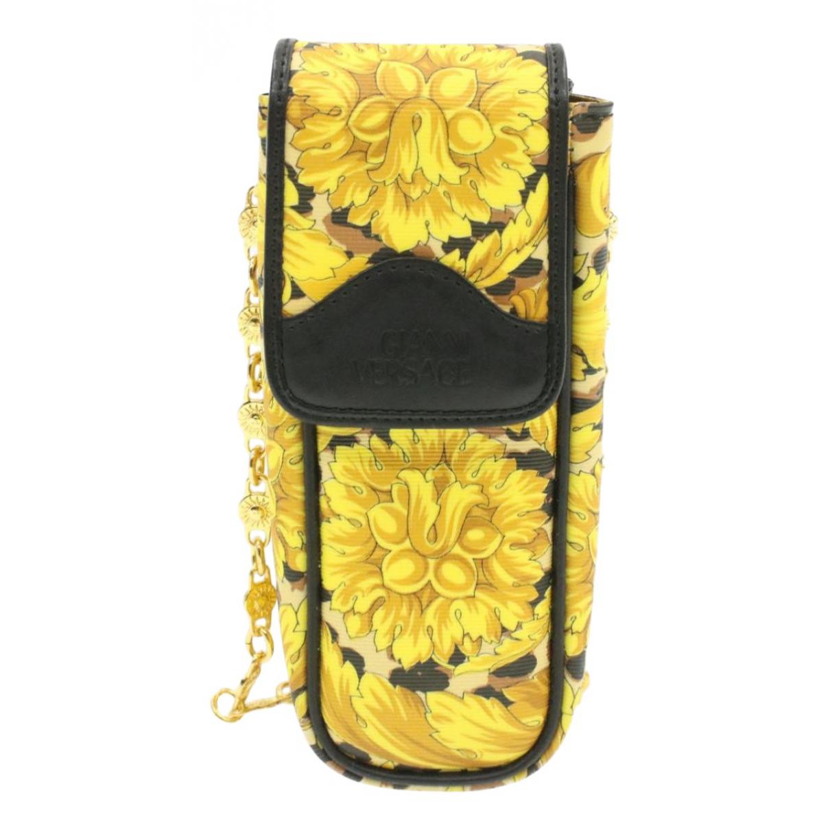 Versace - Pochette   pour femme en toile - jaune