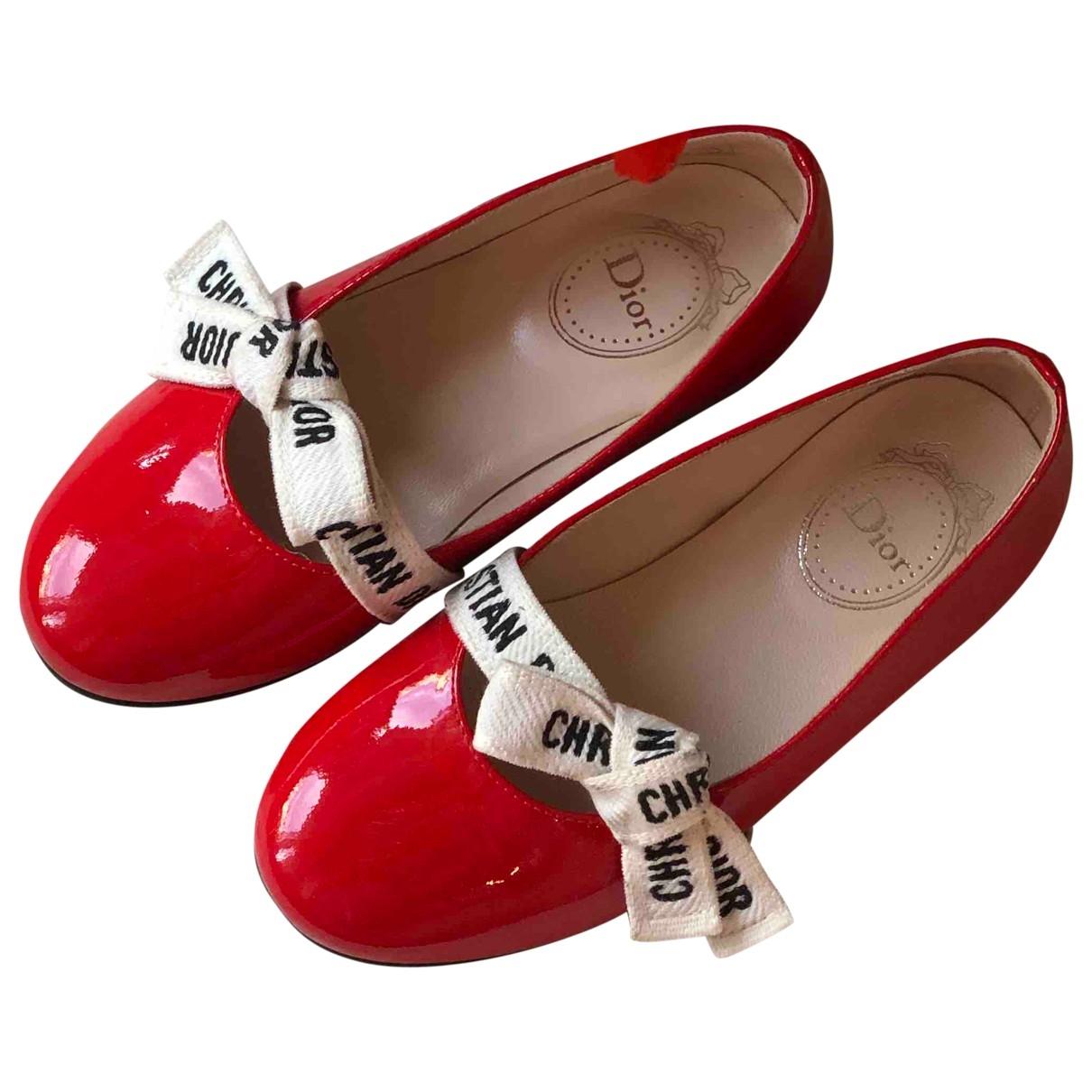 Dior \N Ballerinas in  Rot Leder