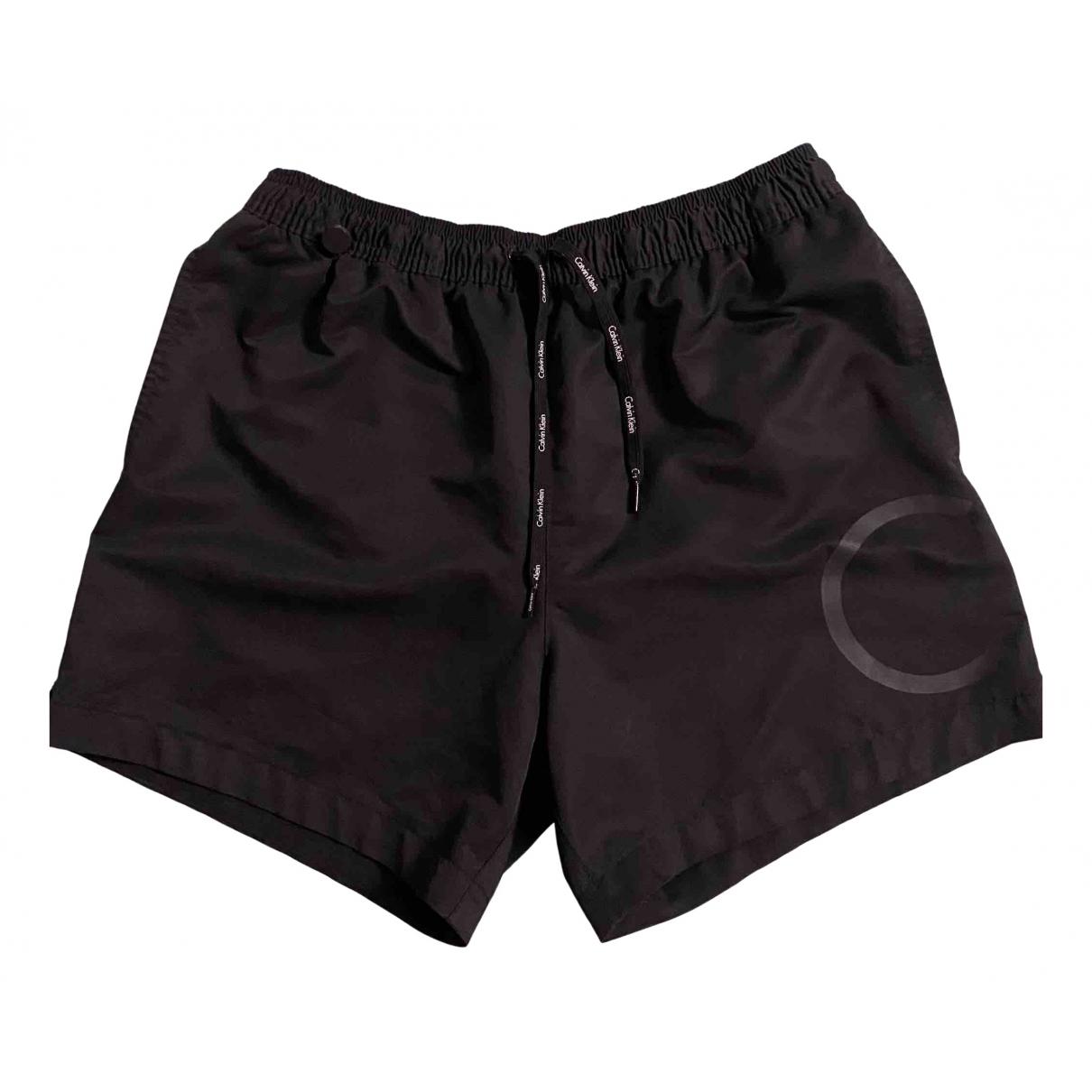 Calvin Klein \N Badeanzug in  Schwarz Polyester