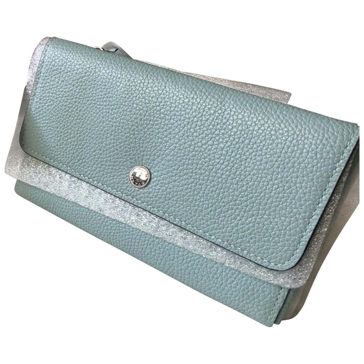 Coach \N Blue Leather wallet for Women \N