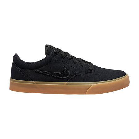 Nike Charge Mens Lace-up Skate Shoes, 9 1/2 Medium, Black
