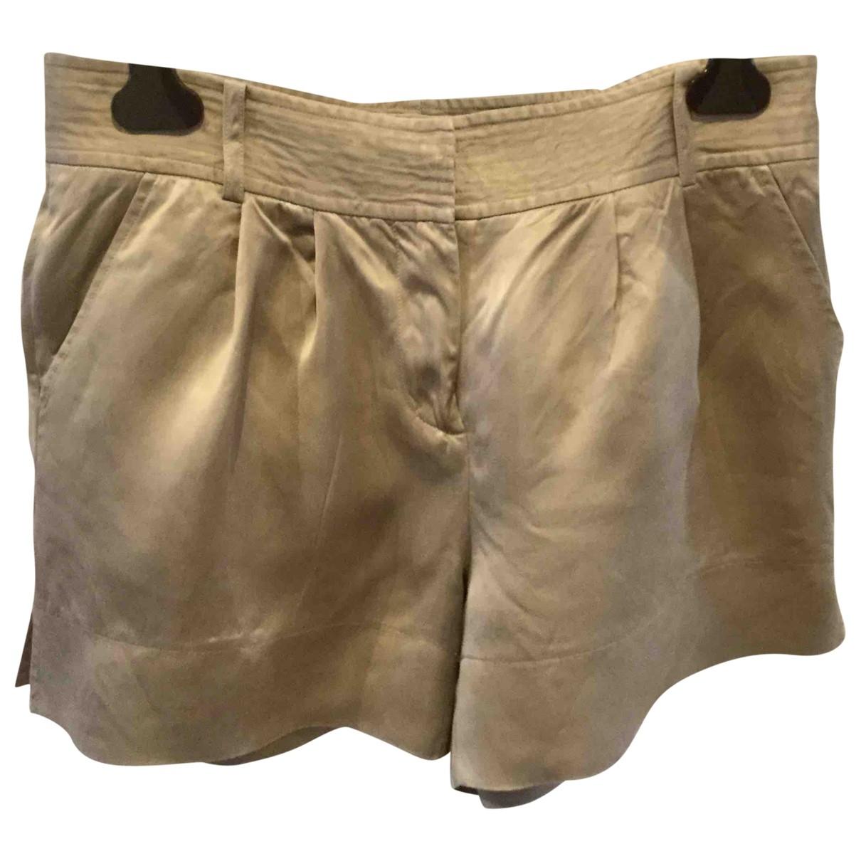 Diane Von Furstenberg \N Shorts in  Ecru Polyester