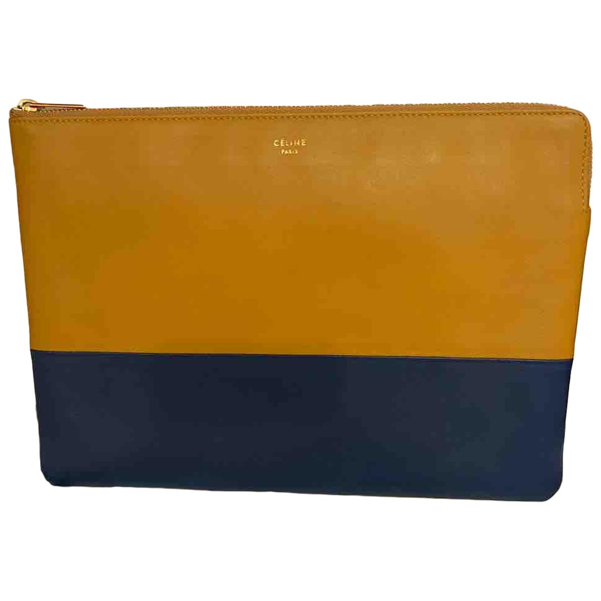 Celine \N Blue Leather Clutch bag for Women \N