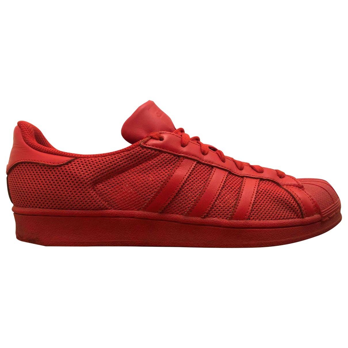Adidas - Baskets Superstar pour homme en caoutchouc - rouge