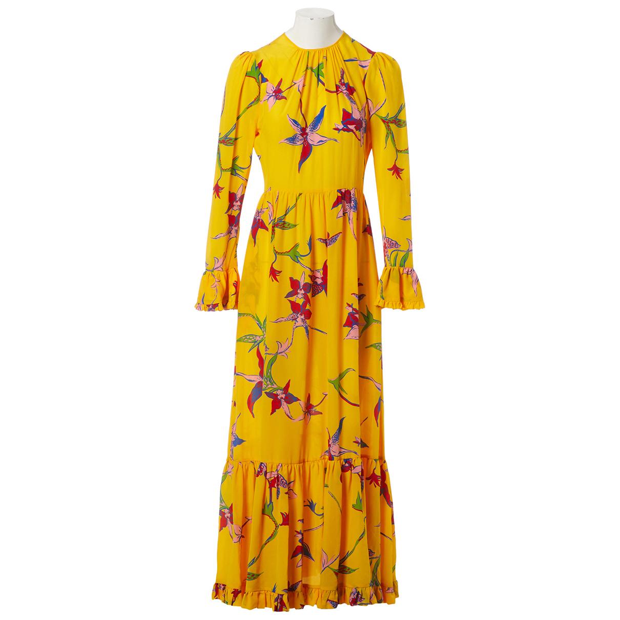 La Double J - Robe   pour femme en soie - jaune