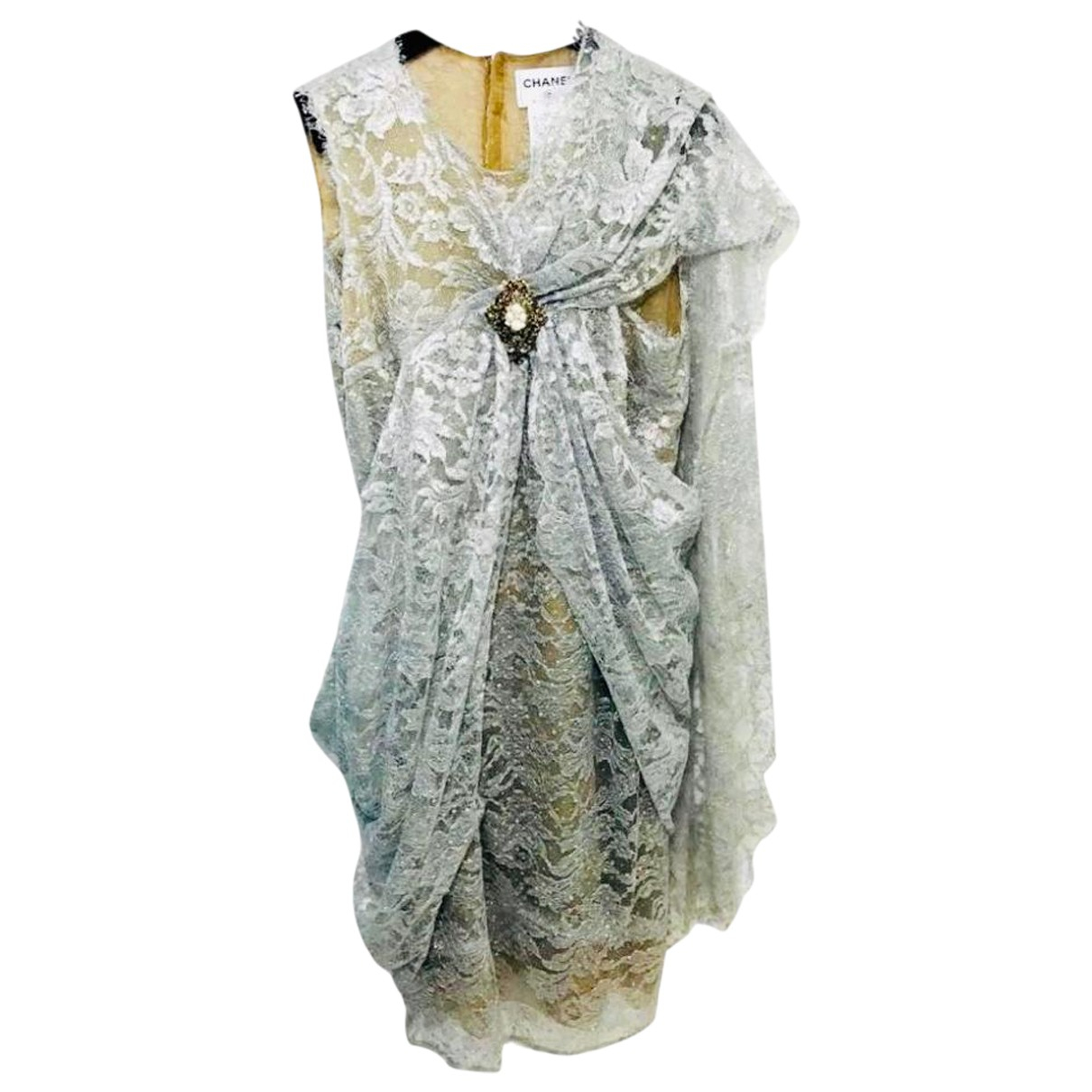 Chanel \N Kleid in  Silber Polyester