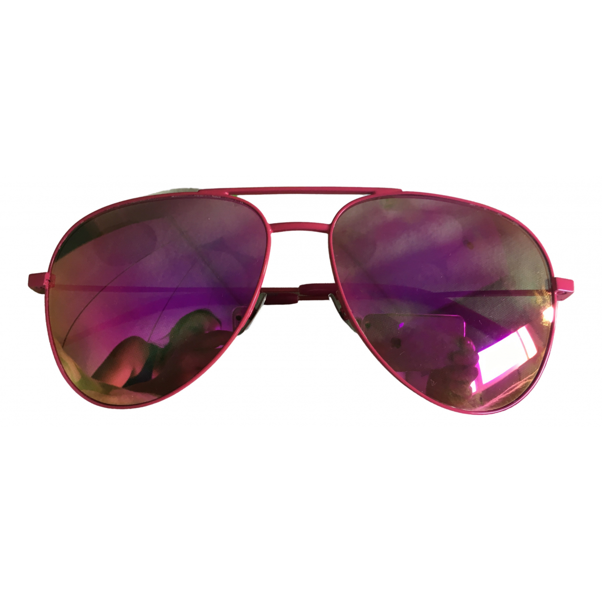 Saint Laurent N Pink Metal Sunglasses for Women N
