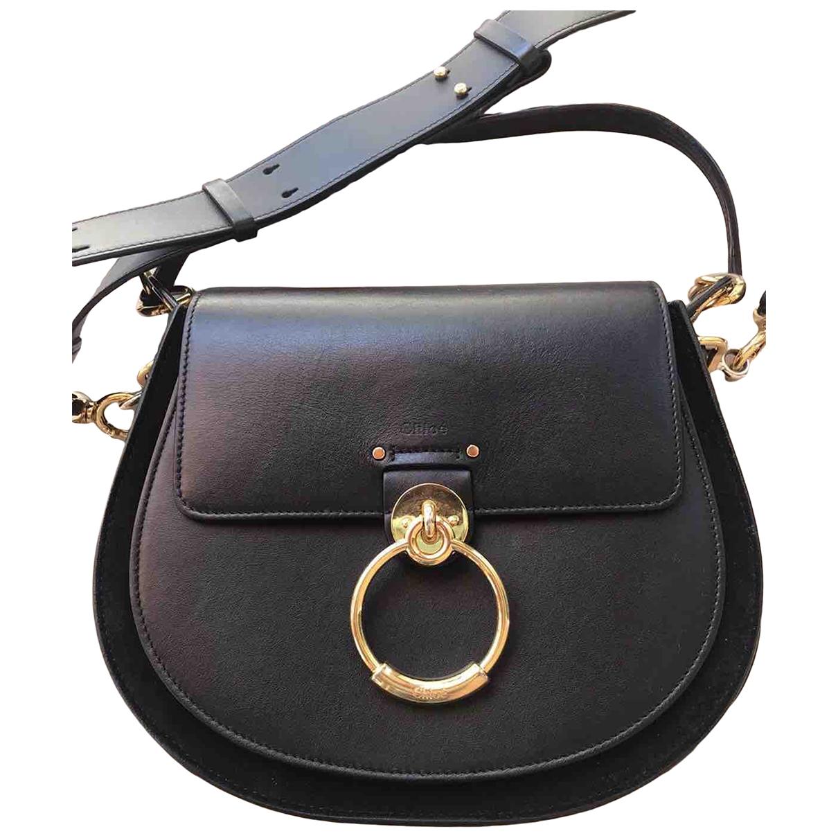 Chloé Tess Black Leather handbag for Women \N