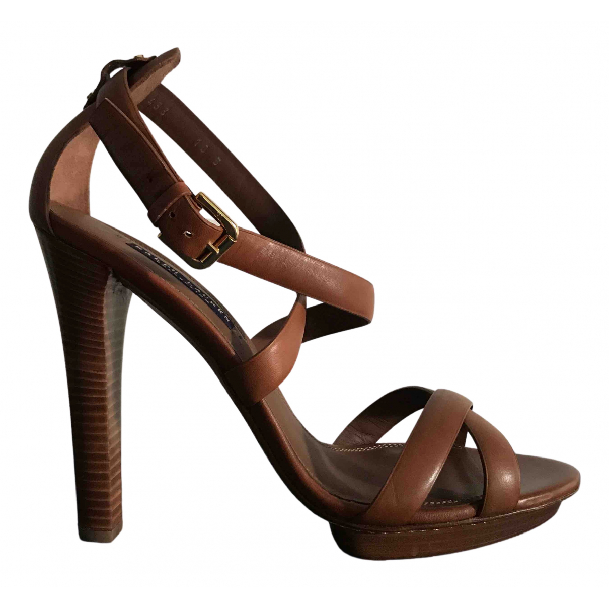Ralph Lauren Collection \N Sandalen in  Braun Leder