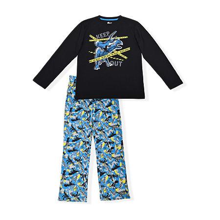 Sleep On It Big Boys 2-pc. Pant Pajama Set, 12-14 (l) , Black