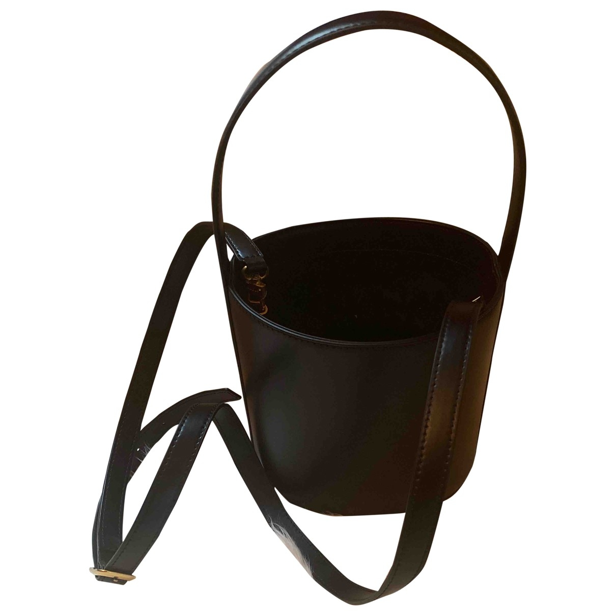 Staud - Sac a main Bisset pour femme en cuir - noir