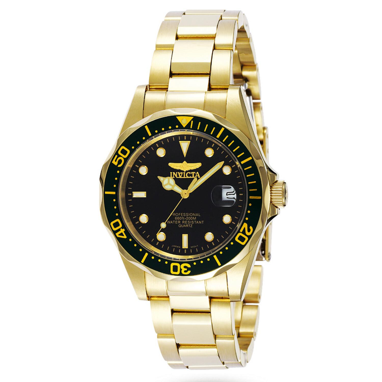 Invicta Men's Pro Driver 8936 Gold Tone Stainles-Steel Quartz Dress Watch
