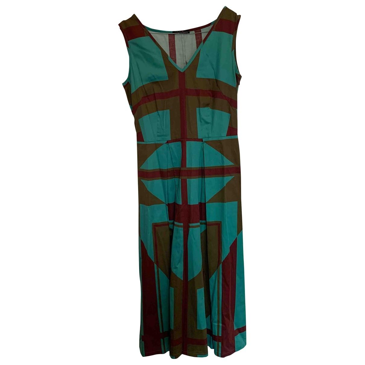 Laura Urbinati \N Kleid in  Tuerkis Baumwolle