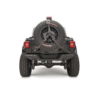 Fab Fours Rear Slant Back Tire Carrier (Black) - JL2070-1