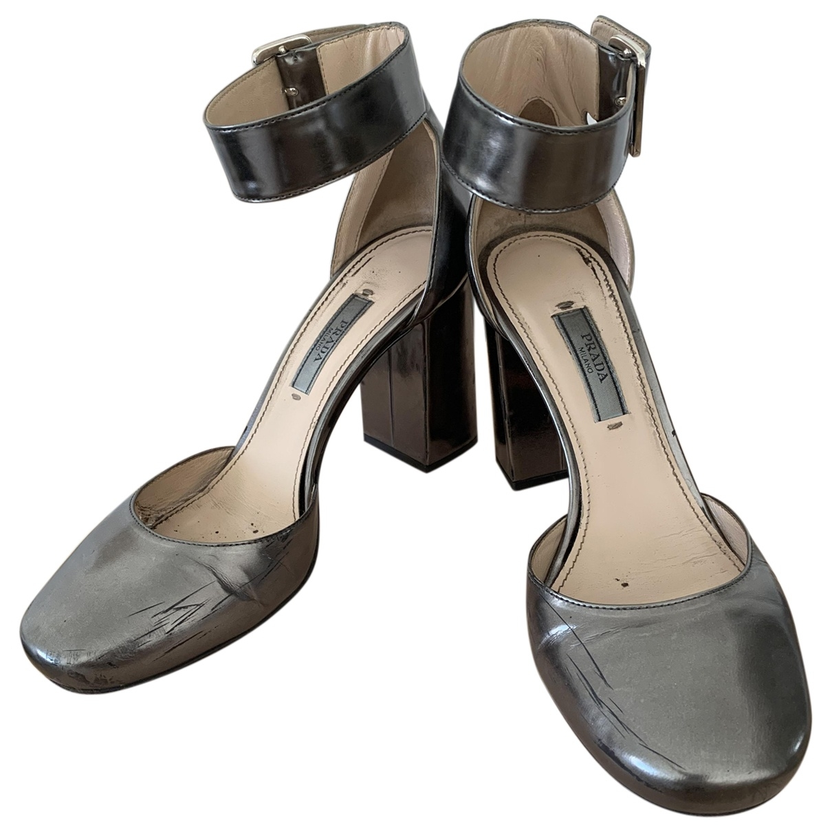 Prada \N Silver Patent leather Heels for Women 37 EU