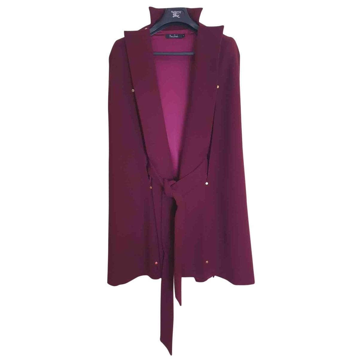 Marios Schwab - Manteau   pour femme en laine - bordeaux