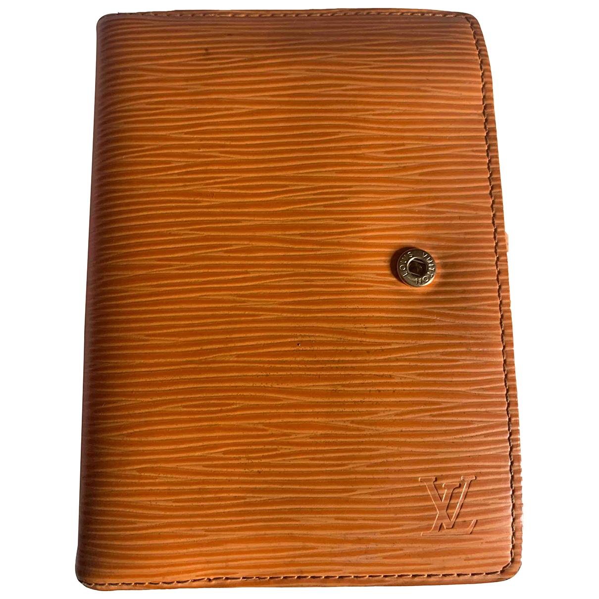Louis Vuitton - Objets & Deco Couverture dagenda MM pour lifestyle en cuir - orange