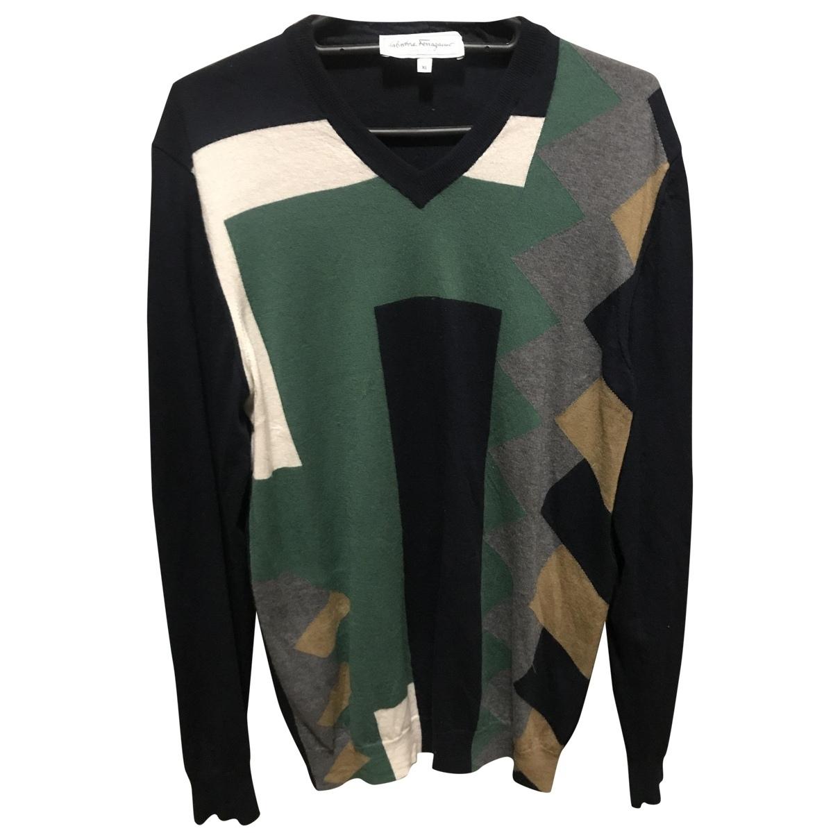 Salvatore Ferragamo - Pulls.Gilets.Sweats   pour homme en laine - multicolore