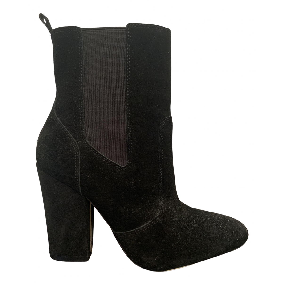 Massimo Dutti \N Black Suede Boots for Women 37 EU