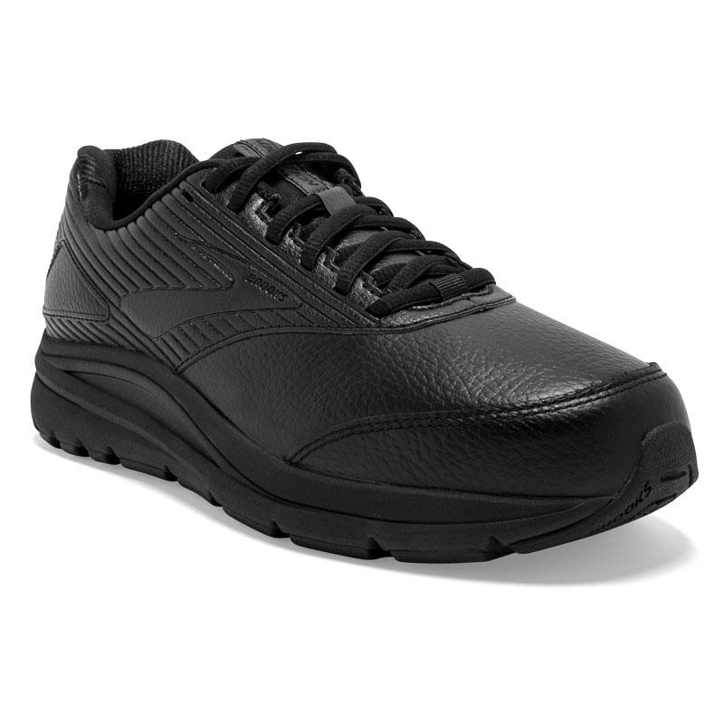 Brooks Addiction Walker 2 (Women's) Black Leather Slip-Resistant 75 D