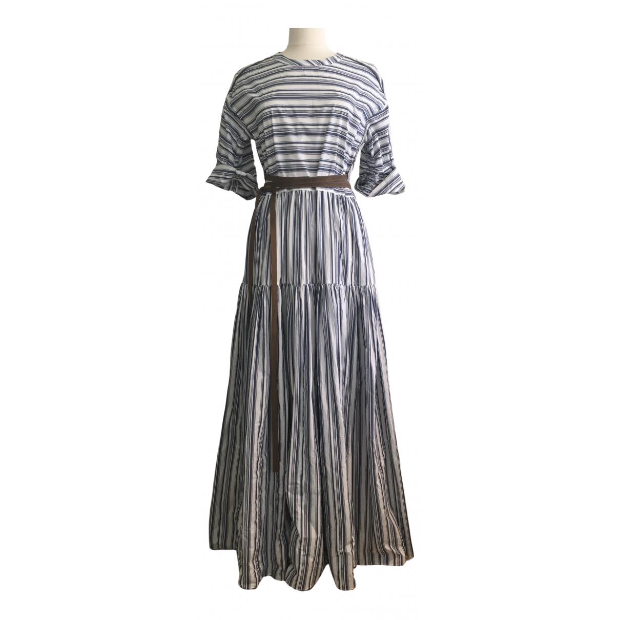 Brunello Cucinelli \N Kleid in  Weiss Baumwolle