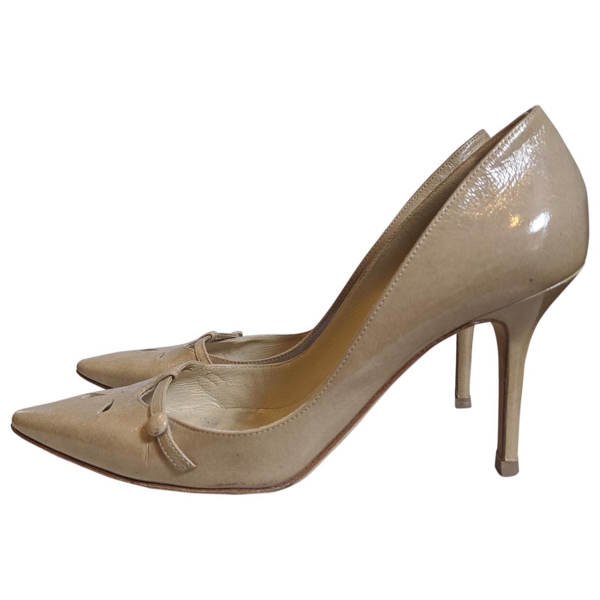 Jimmy Choo \N Beige Patent leather Heels for Women 39 EU