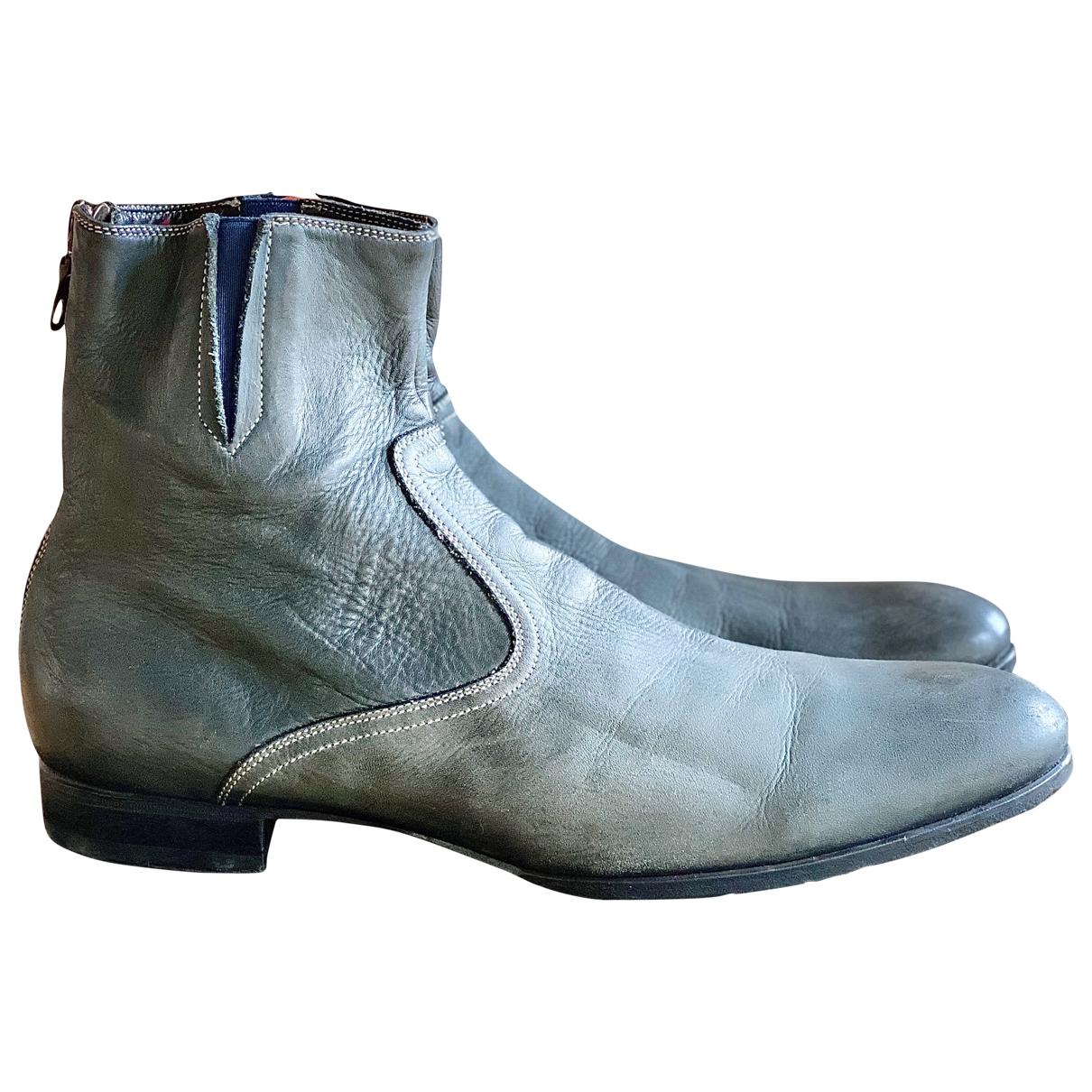 Paul Smith \N Stiefel in  Grau Leder
