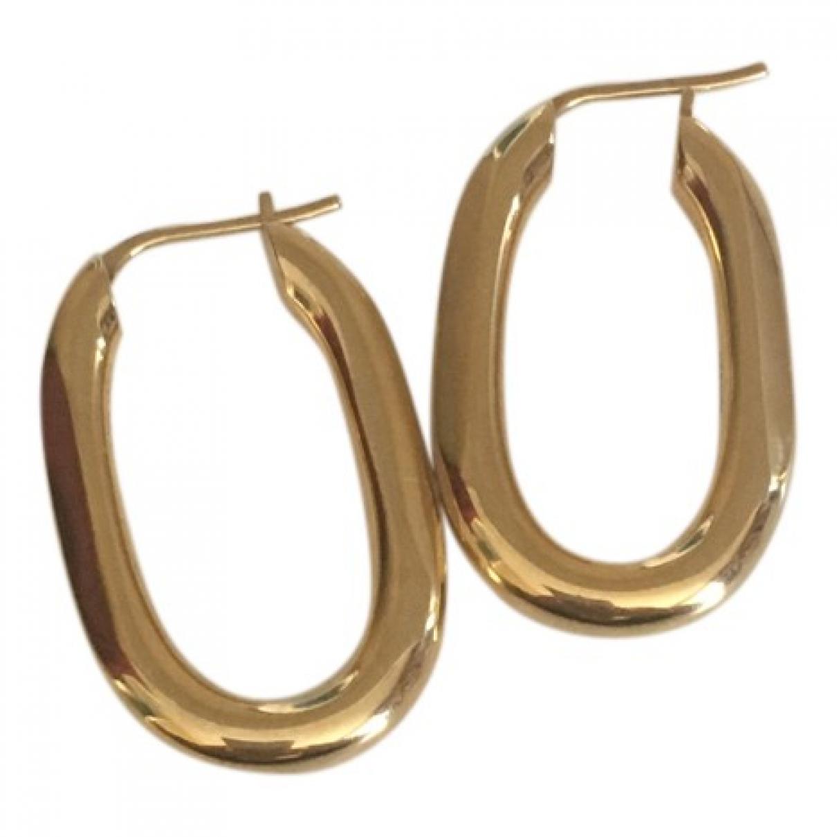 Celine Hoop Gold Metal Earrings for Women \N