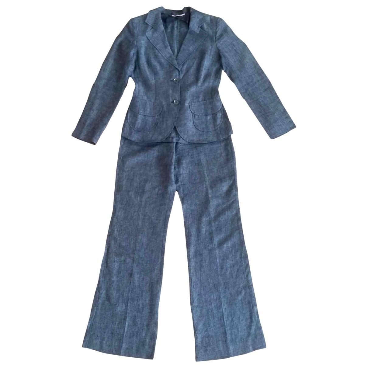 Max & Co \N Kleid in  Grau Leinen
