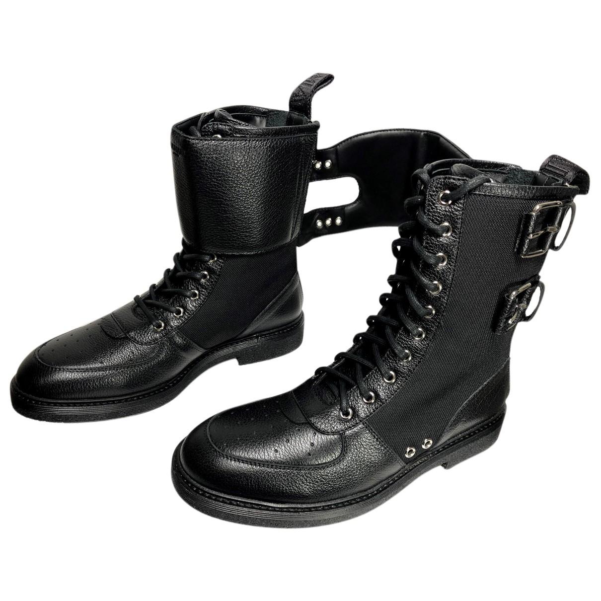 Balmain \N Stiefel in  Schwarz Leder
