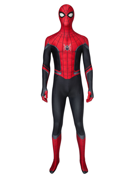 Milanoo Marvel Comics Spider Man Far From Home Spider Man Cosplay Costume Lycra Spandex Catsuits Marvel Comics