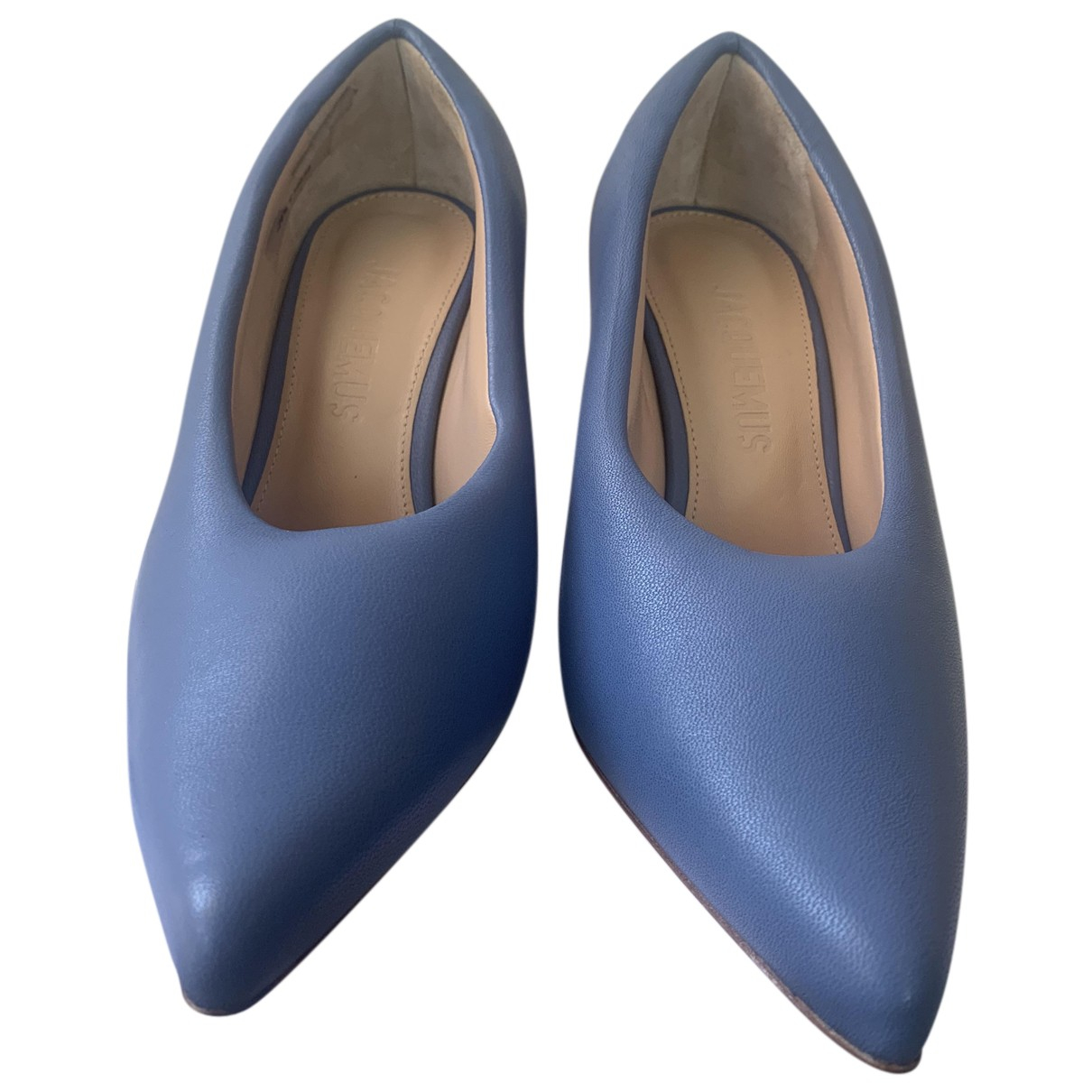 Jacquemus Jacques Turquoise Leather Heels for Women 37.5 EU