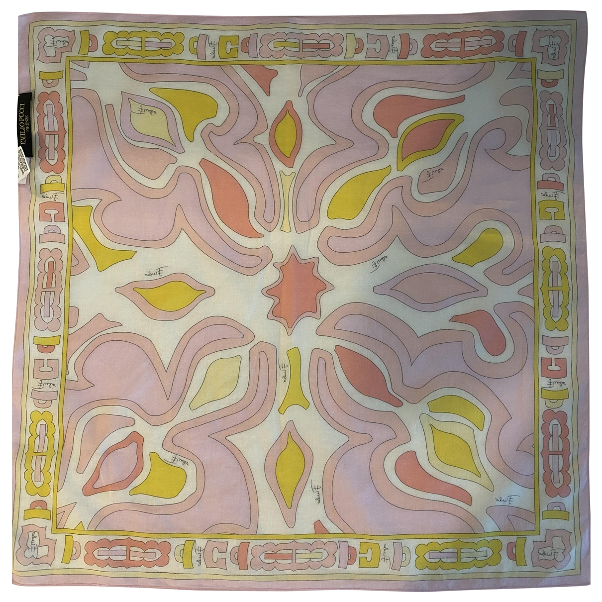 Emilio Pucci - Carre   pour femme en coton - rose