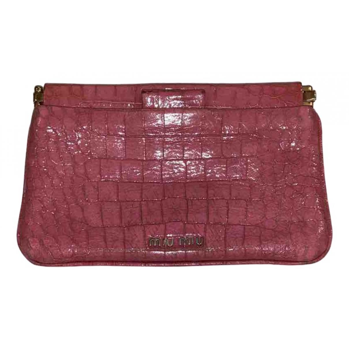 Miu Miu - Pochette   pour femme en cuir - rose
