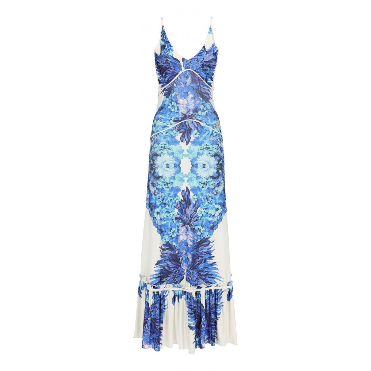 Roberto Cavalli \N Kleid in  Blau Synthetik