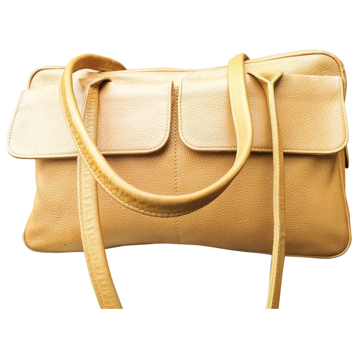 Longchamp - Pochette   pour femme en fourrure - beige