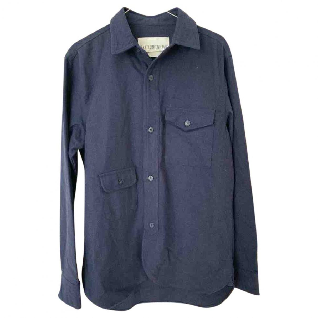 Han Kjobenhavn \N Hemden in  Blau Wolle
