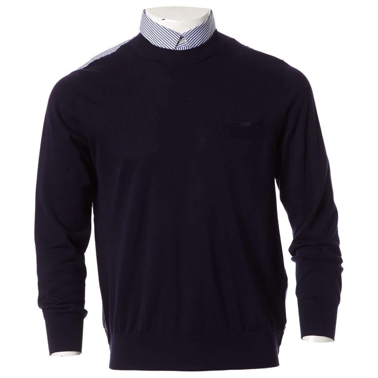 Sacai \N Pullover.Westen.Sweatshirts  in  Marine Baumwolle