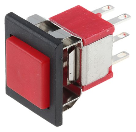 RS PRO Double Pole Double Throw (DPDT) Momentary Push Button Switch, 12.7 x 15.7mm, Panel Mount, 32/50/125V ac