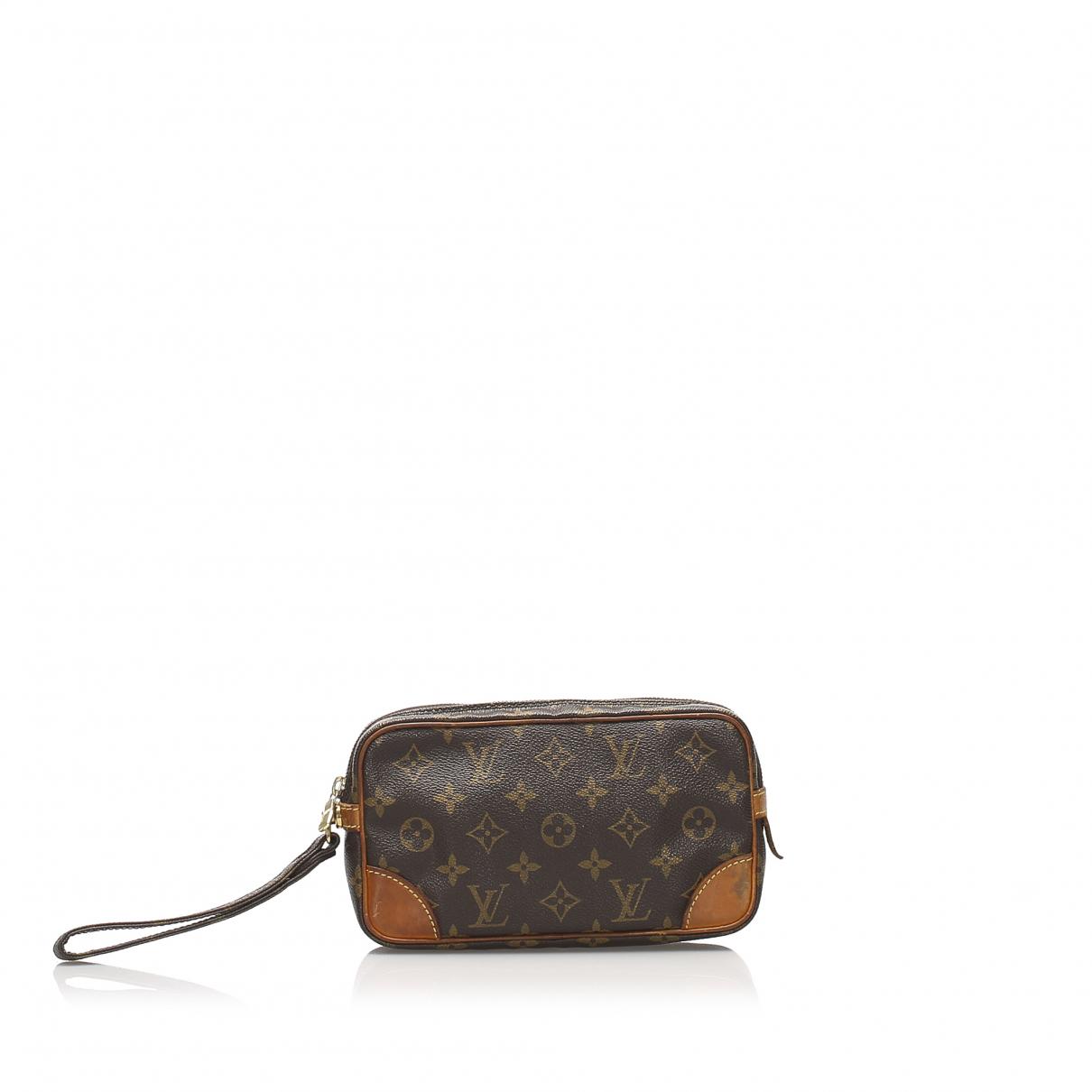 Louis Vuitton N Brown Cloth Clutch bag for Women N