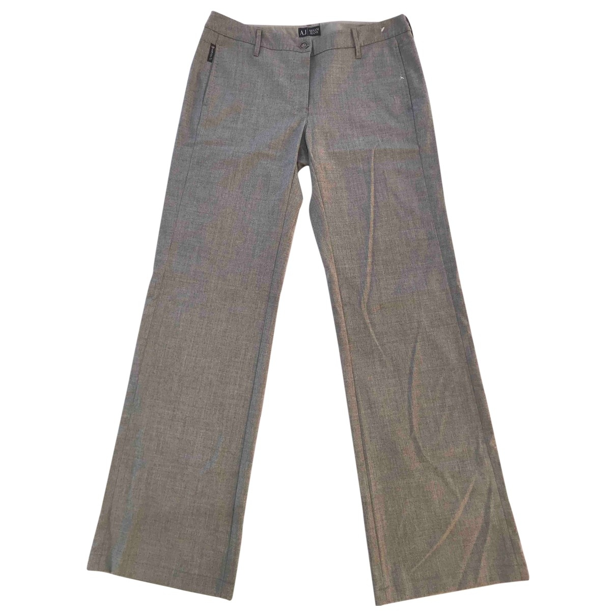 Armani Jeans \N Grey Wool Trousers for Women 42 FR